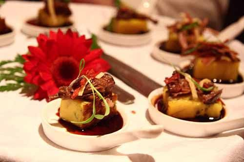 Dishes served at an event