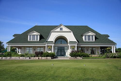 exterior view of a golf club building